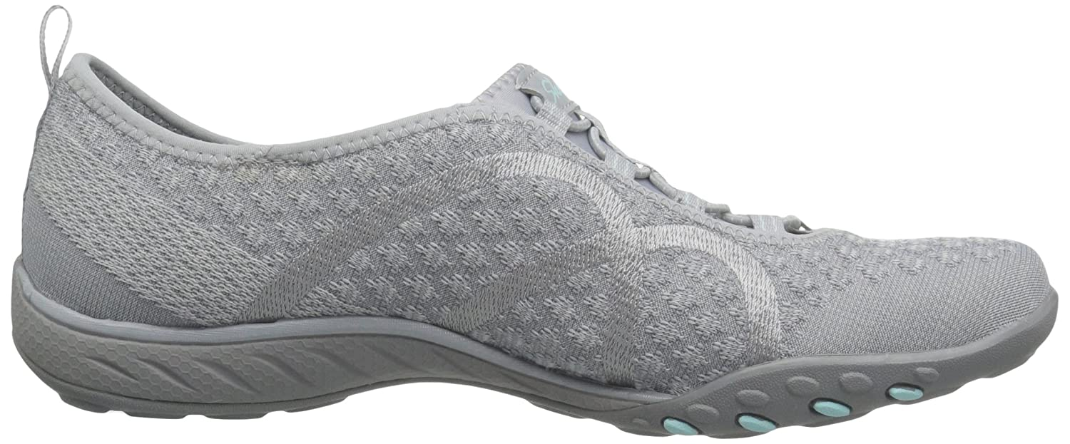 Skechers Breathe-Easy Fortune Fortune Fortune Damen Sneakers Grau Knit 4e9045