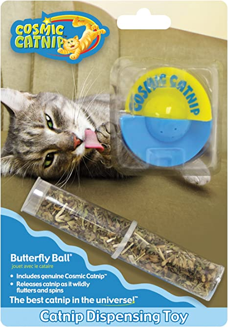 Amazon Com Ourpets Catnip Vinyl Refillable Cat Toy Butterfly