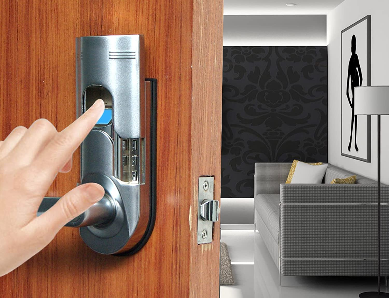 Amazon.com : Digi Electronic Biometric Fingerprint Keypad Password Home  Door Lock 6600 86 Intersected Chrome (Left Hand Door) : Camera U0026 Photo
