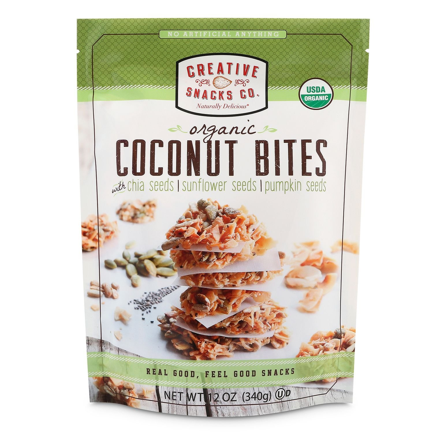 Creative Snacks Organic Coconut Bites (12 oz.) (pack of 6)