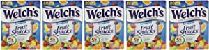 Welchs Fruit Snacks Mixed Fruit Fat Free Snacks, 5 Pack (80 Count Pouches)