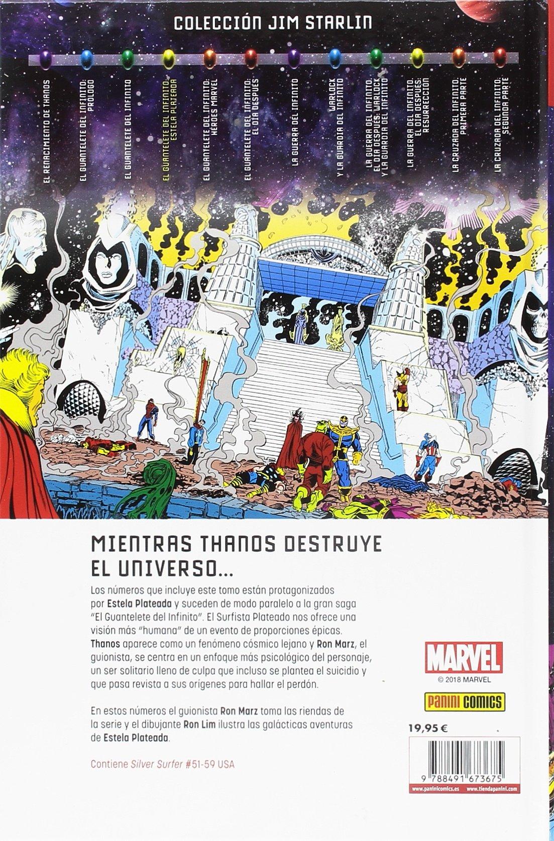 El guantelete del infinito. Estela plateada: Amazon.es: Starlin Lim: Libros