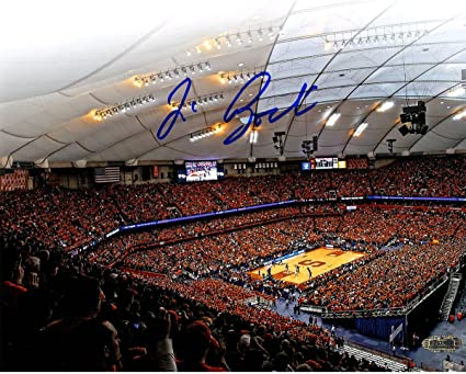 Jim Boeheim Signed Carrier Dome Attendance Record 8x10 Photo