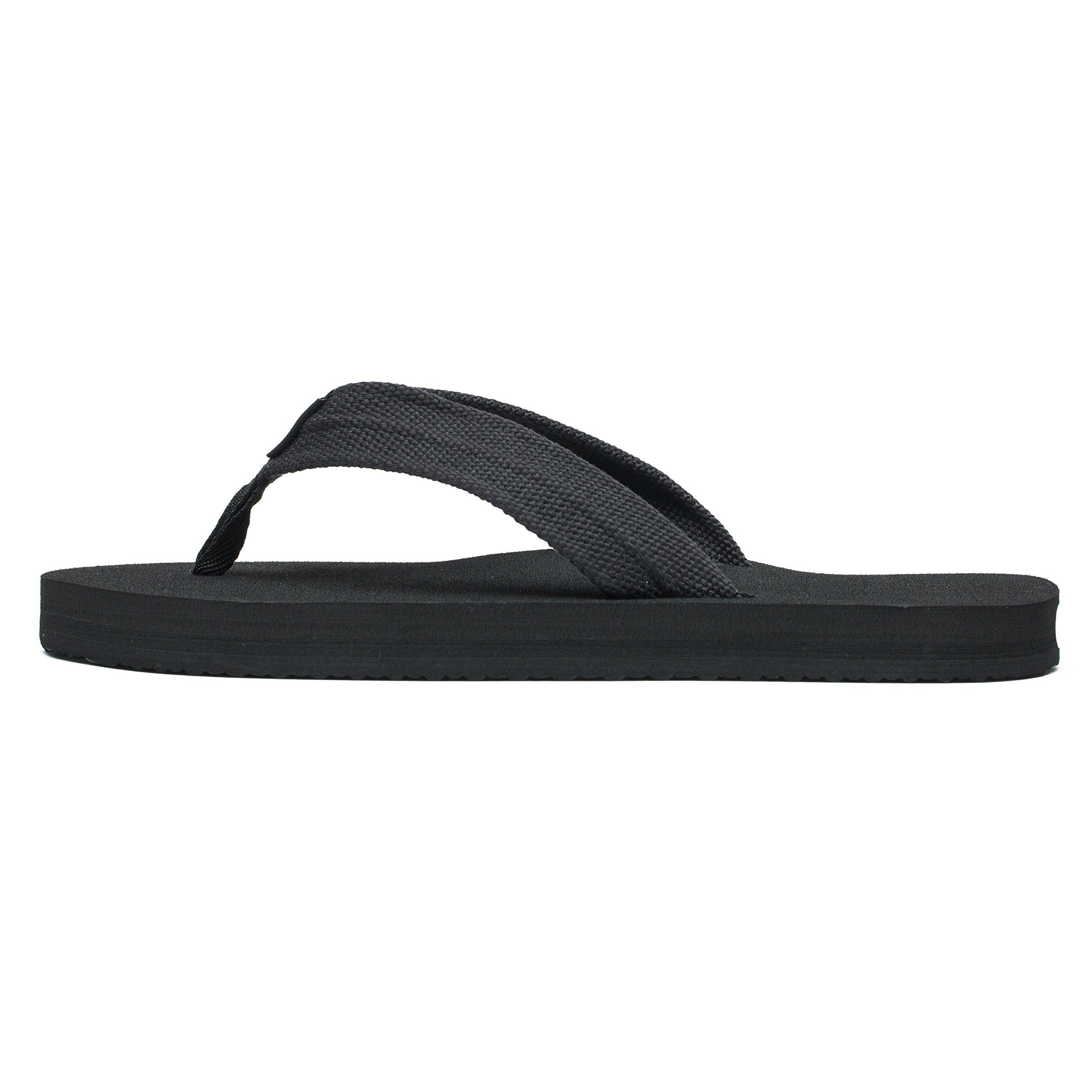 KENSBUY Flip Flops Men Lightweight Summer Flip-Flop Comfort Thongs Sandals Beach Slipper Extra Large Size EU42 Black