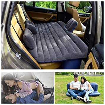 Viaje en Coche cama inflable Camping AUTO AIR Literie Colchón hinchable inflación asiento trasero sofá élargi