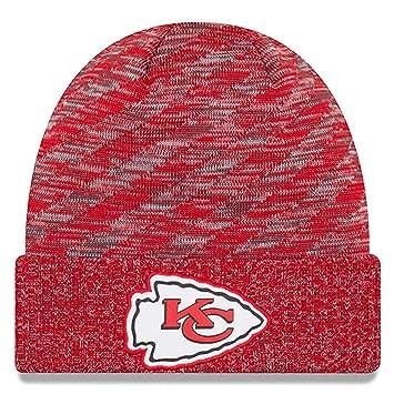 86c22a30f71 New Era NFL Sideline 2018 Knit Beanie - Kansas City Chiefs  Amazon ...