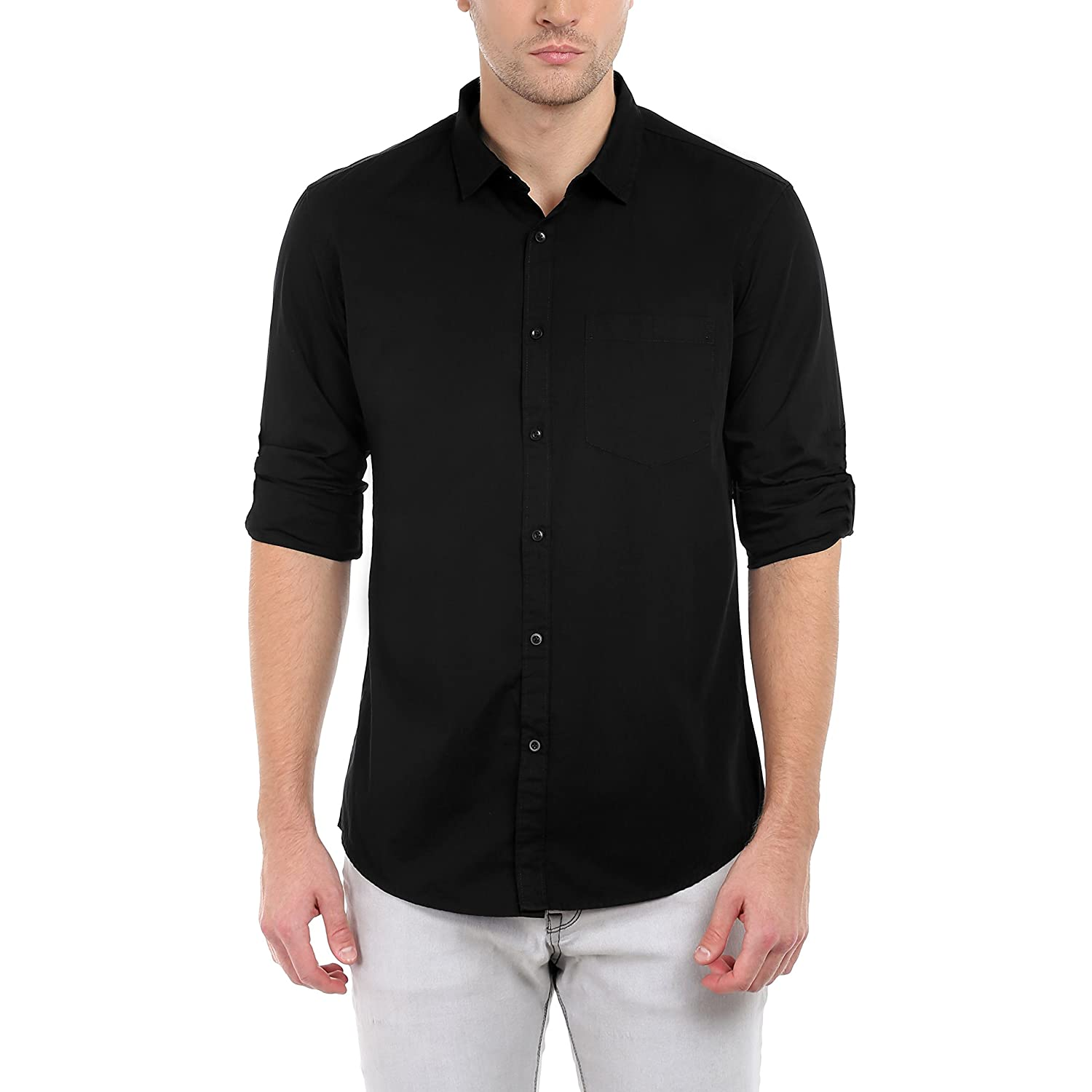 Wear men's T-shirts for casual night outs, to work, and when running daily errands. T-shirts are comfortable, casual apparel that complements dress pants, sweatpants, jeans, and more. Popular brands include Oakley, The North Face, and Columbia.