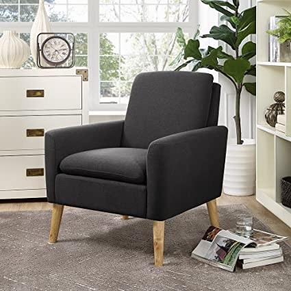Amazon Com Lohoms Modern Accent Fabric Chair Single Sofa Comfy
