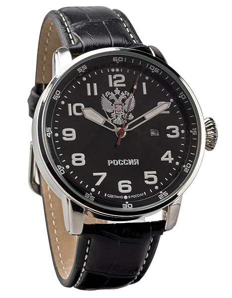 Slava Spetsnaz Fuerzas Especiales Ataque Ruso muñeca reloj de cuarzo para hombres con escudo de armas: Amazon.es: Relojes