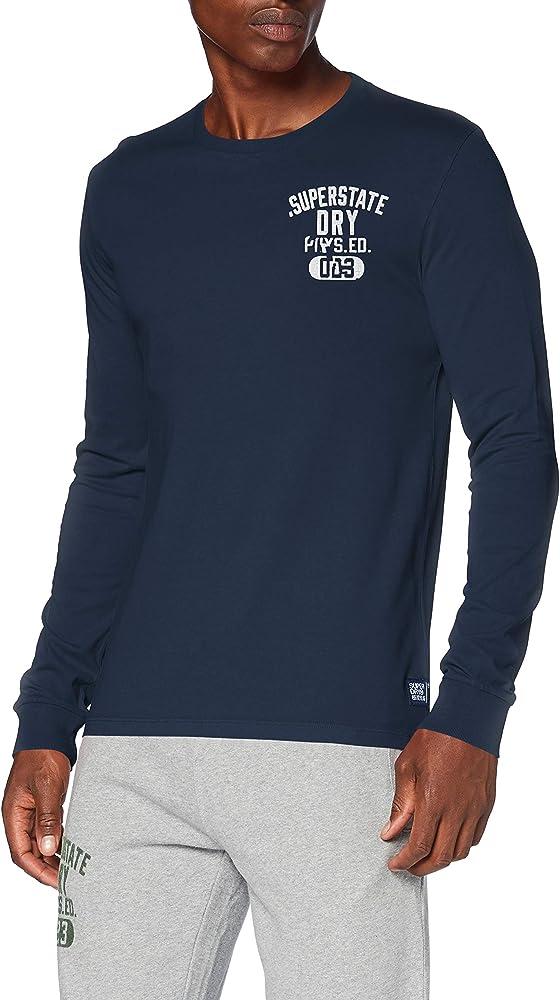 Superdry Superstate LS Top Camisa Manga Larga, Azul (Lauren Navy Jua), XXS para Hombre: Amazon.es: Ropa y accesorios