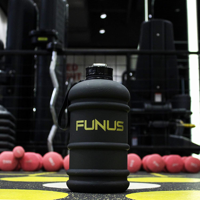 FUNUS Big Water Bottle 1.3L-2.2L Large Water Bottle BPA Free Leak Proof Reusable Odorless Big Capacity Water Jug for Men Women Fitness Gym Outdoor Climbing Gym Water Bottle
