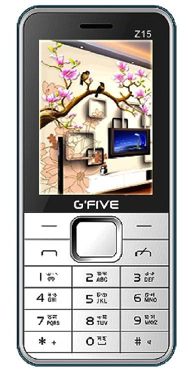 G'Five Z15  White Blue  Basic Mobiles