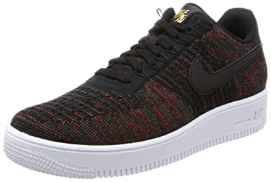 online store 7a516 4f6cc Nike Mens AF1 Ultra Flyknit Low Trainer, Black Black-Metallic Gold, 9