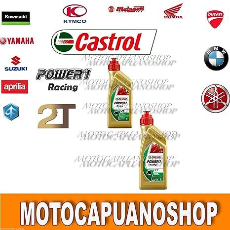 2 l 2lt Aceite mezcla Motor moto Castrol Power 1 Racing 2T 100 ...