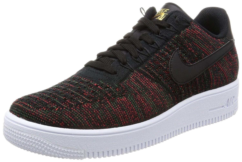 Nike Men's AF1 Ultra Flyknit Low Basketball Shoe B06WW57BPV 10.5 D(M) US Black/Metallic Gold/White/Black