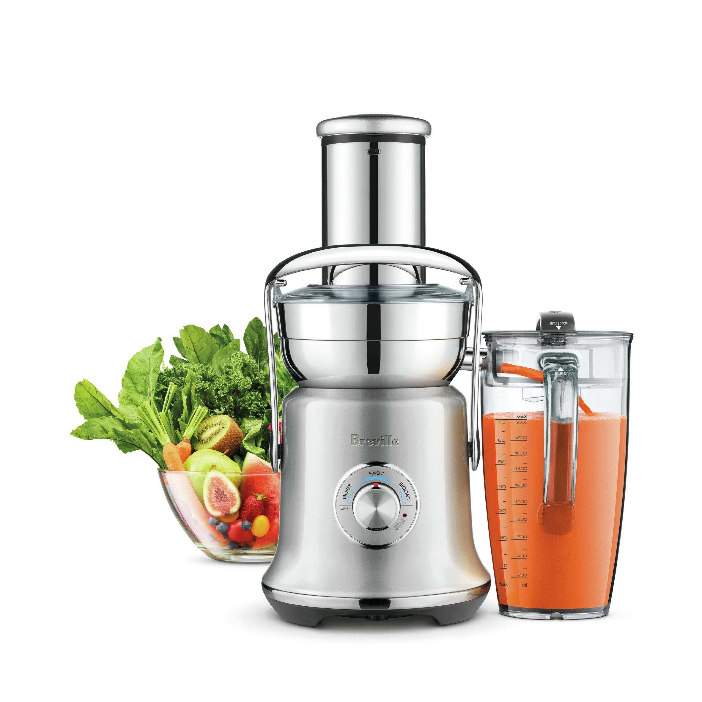Breville BJE830BSS1BUS1 Juice Founatin Cold XL, Brushed Stainless Steel Centrifugal Juicer by Breville