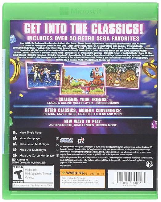 SEGA Genesis Classics for Xbox One [USA]: Amazon.es: Sega of ...