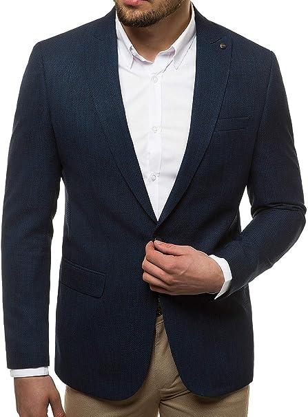 OZONEE Herren Sakko Jackett Anzugjacke Blazer Anzug Jacke Smoking Slim Fit Business Sportlich Sport Langarm Casual Klassisch Classic Modern OZN430