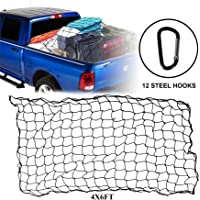 Youxmoto Truck Nets, 4' X 6' Super Duty Cargo Net for Pickup Truck Bed, Heavy Duty Truck Trailer Luggage Nets Stretches…