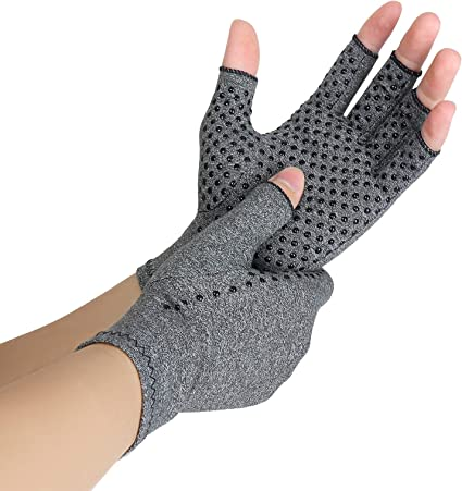Rheumatoid /& Osteoarthritis Joint Pain Relief-Carpal Tunnel Support L Fingerless Compression Arthritis Gloves for Men /& Women Arthritis Compression Gloves 2 Pairs | Ease Muscle Tension