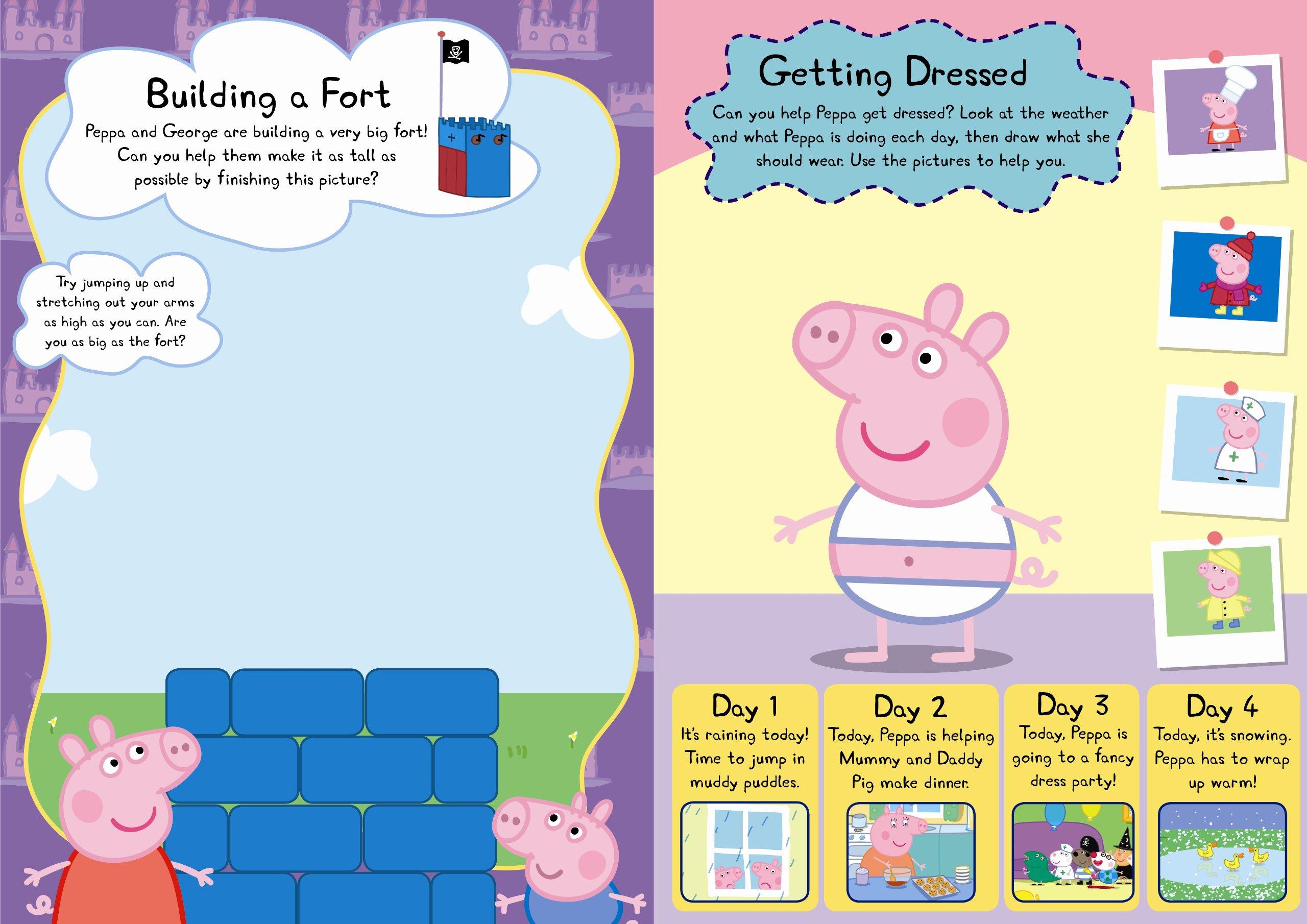 Buy Peppa Pig Peppa And Georges Wipe Clean Activity Book Book