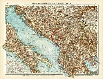 Carte Italie Balkans.Theprintscollector Carte Turquie Antique Bosnie Serbie