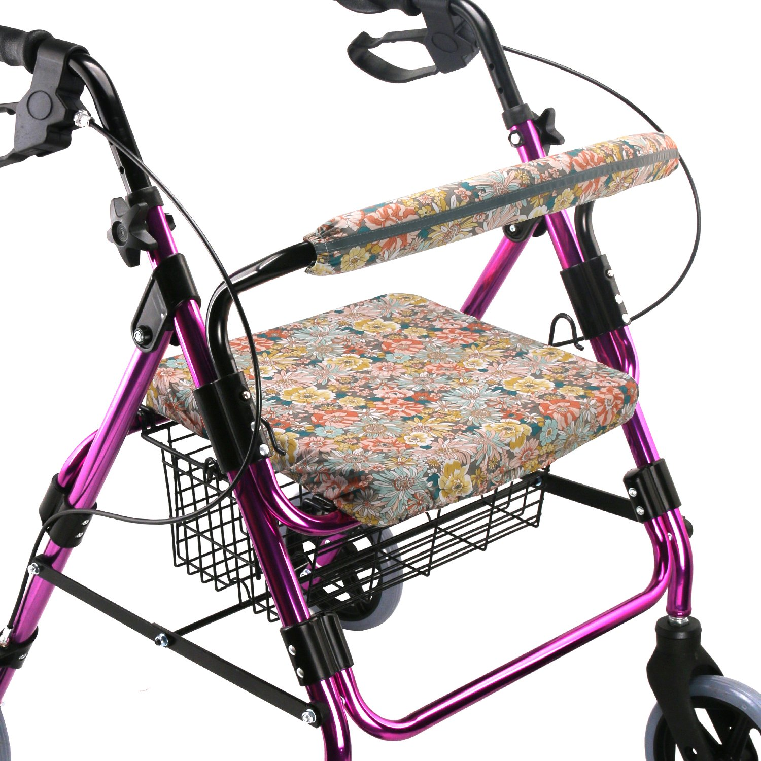 Walker Seat Cover Rollator Walker Seat and Backrest Covers Vibrant Walker Cover One Size Multiple Colors (CB1886)