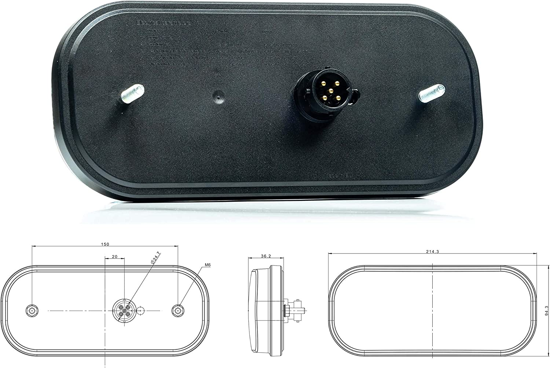 Facibom Dynamischer Blinker LED R/ücklicht Add-on Modul Kabelbaum f/ür A6 S6 RS6 4G C7 Limousine