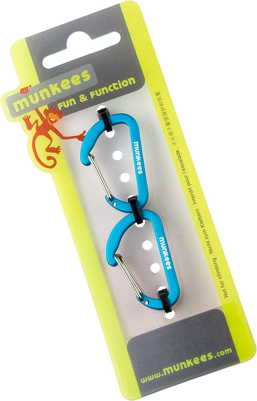 Munkees Mousqueton Plat Petit/-/Multifonctions Mousqueton avec Fermoir /Ø 3/x 25/x 40/mm S Lot DE 2