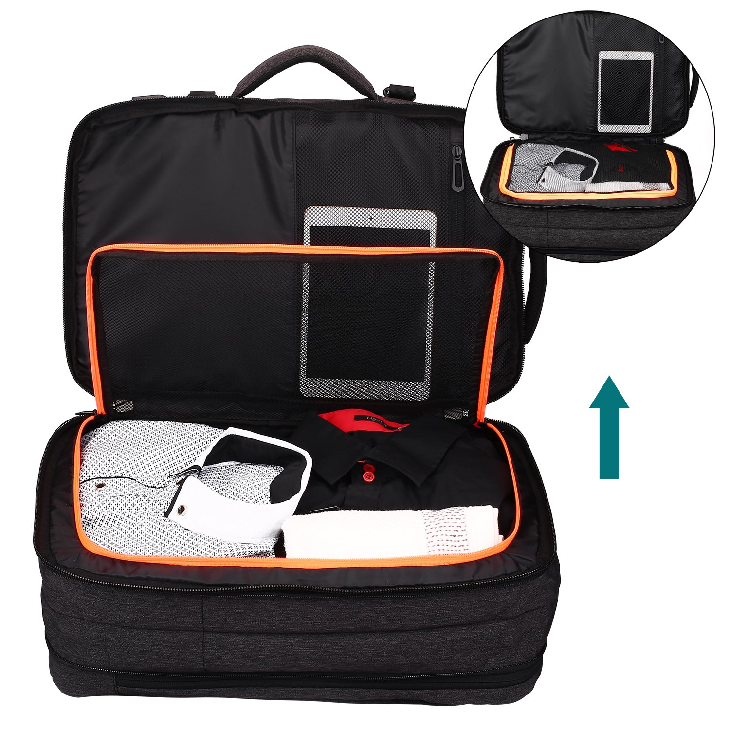Lifeasy Travel Backpack, 35L Carry-On Daypack Flight Approved Laptop Expandable Weekender Multipurpose Trip Bag Business Backpacks with USB Charging Port Grey by Lifeasy (Image #2)