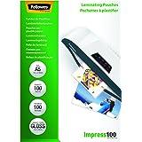 Fellowes 53510 Laminierfolien Impress 100 Mikron, DIN A5 (100er Pack)