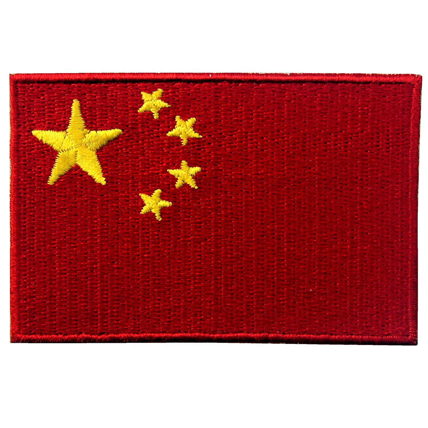 EmbTao Peoples Republic of China Flag Embroidered Patch Chinese Iron On Sew On National Emblem