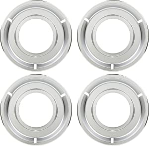 Kitchen Basics 101: 4 Pack 5303131115, 540T014P01, RGP 300 Round Range Stove Gas Pan, Replacement for Frigidaire and Tappan
