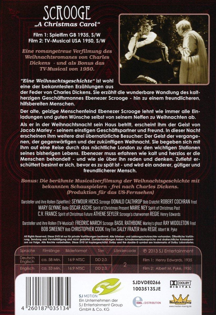 Scrooge - Der Weihnachtsfilm / A Chrsitmas Carol 2 DVDs: Amazon.de ...