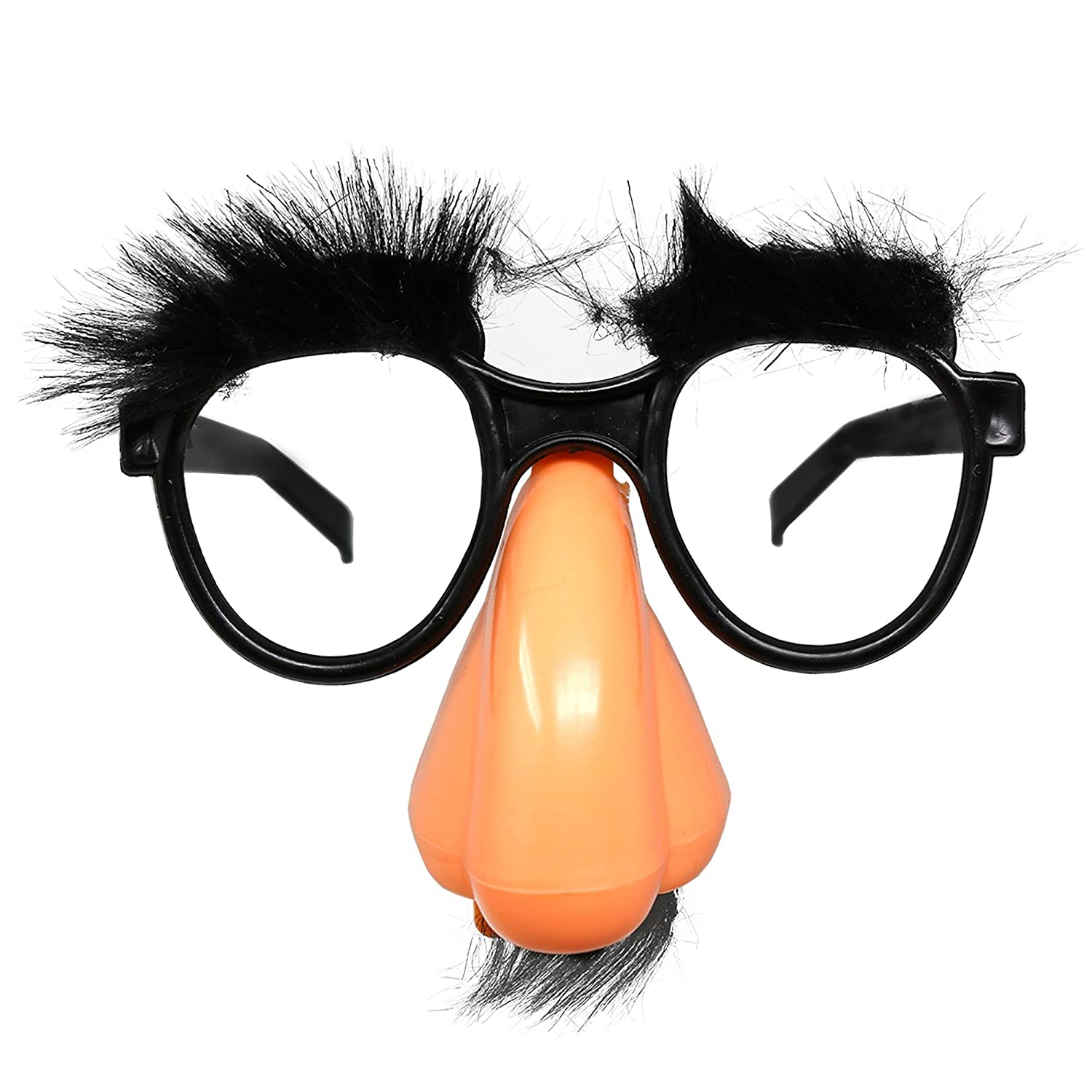e236fbe6d6c Amazon.com  Skeleteen Disguise Glasses with Nose - Groucho Marx Funny Old  Man Glasses - 1 Piece  Clothing