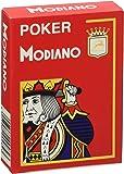 Cartes Modiano Jeu 482–Poker Cristallo, 4Index Rouge
