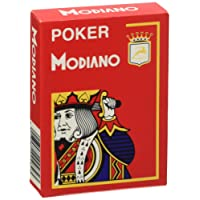 Modiano Texas Poker 4 Jumbo Index rosso - Carte da gioco Texas Poker