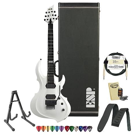Esp e-ii-frx-sw-kit-1 nieve blanco guitarra eléctrica