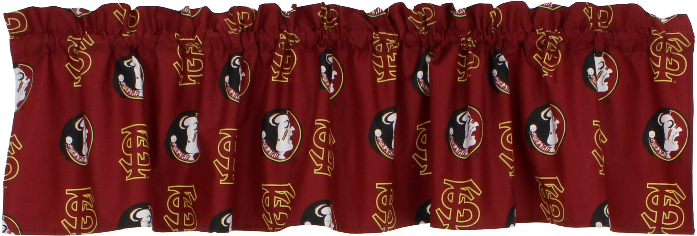 College Covers Florida State Seminoles Printed Curtain Valance, 84 by 15''