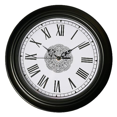 Black Roman Numeral Wall Clocks Amazon Com