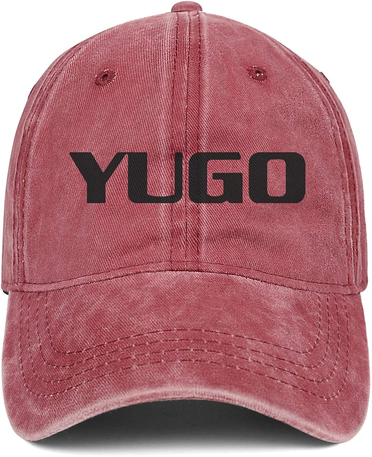 Men Women Hat Yugo-Logo Snapback Hats Custom Denim Cap Casual Caps