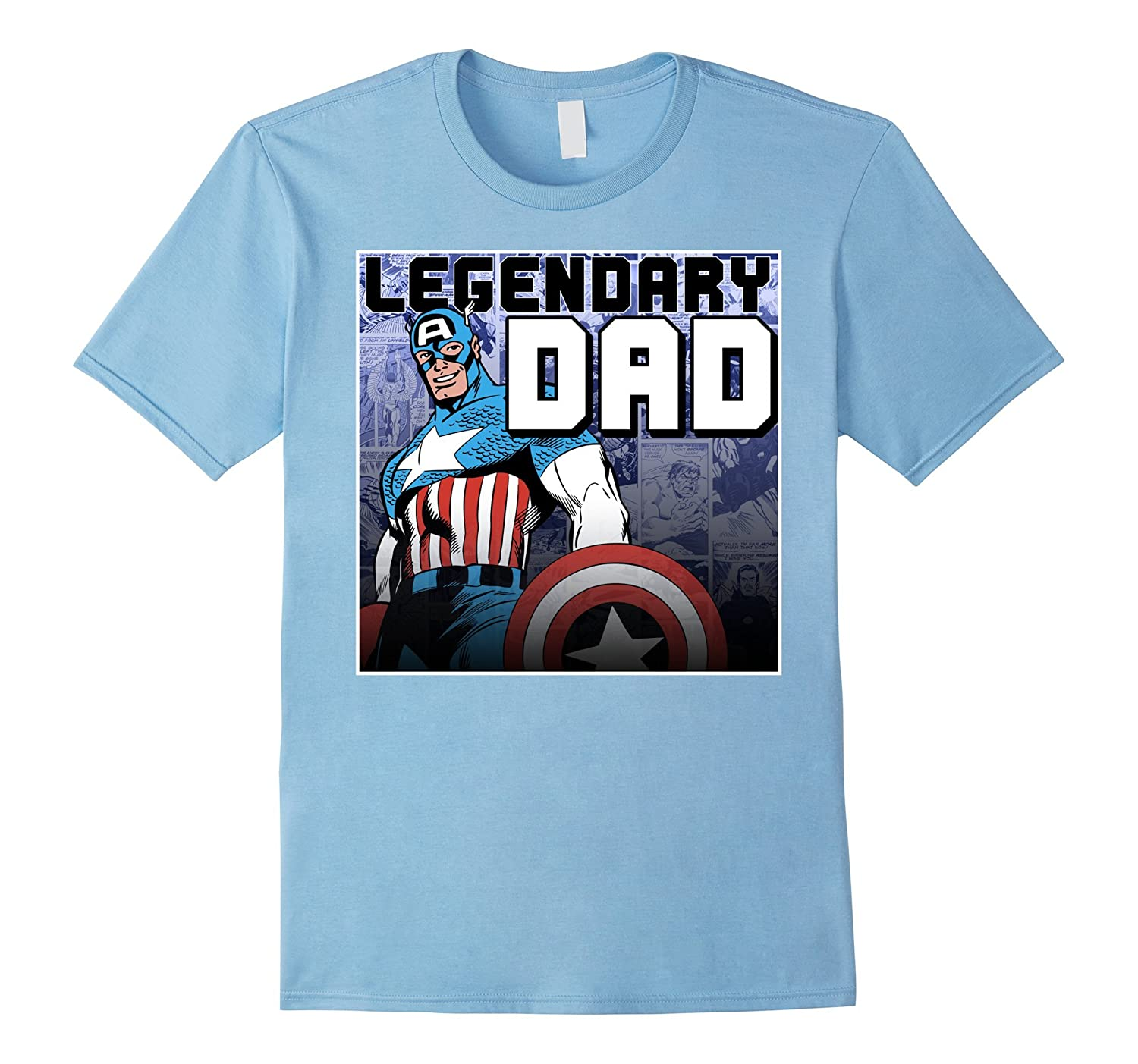 4a906f97 Marvel Captain America Fathers Day Legend Graphic T-Shirt-PL – Polozatee