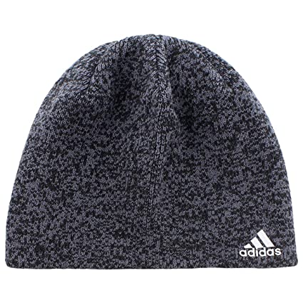 adidas Men's Paramount Beanie, Black/Deepest Space/Scarlet, One Size