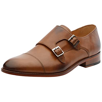 Amazon.com | 3DM Lifestyle Handcrafted Genuine Leather Mens Toe Cap Double Monkstrap Loafer Tan | Loafers & Slip-Ons