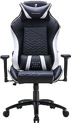 Tesoro Gaming Stuhl, Einzigartig gestaltetes Polyurethane (PU) Kunstleder, weiß/schwarz, one Size
