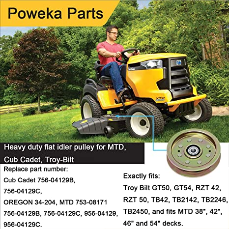"280-646 Replacement Idler Pulley MTD Cub Cadet 38 42 46 54/"" Cut Lawn Mower Decks"