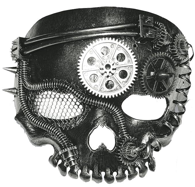 Steampunk Costume Essentials for Women Gemmy (Sun Star) Mens Horror Steam Punk Pirate Skull Mask Halloween Costume Accessory $21.95 AT vintagedancer.com