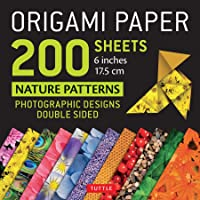 """Origami Paper 200 Sheets Nature Patterns 6"""" (15 CM): Photographic Designs from Nature (12 Designs; 8-Page Booklet)"""
