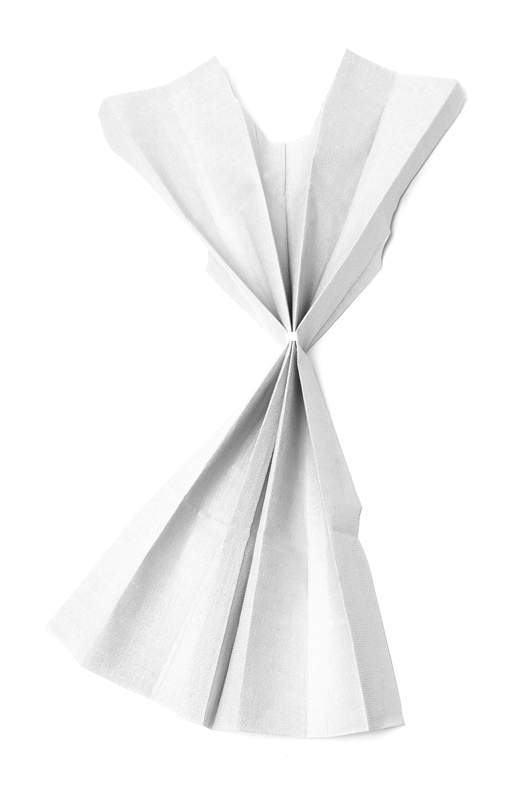 Avalon Papers 811 Standard Gown, Tissue/Poly/Tissue, White (Pack of 50)