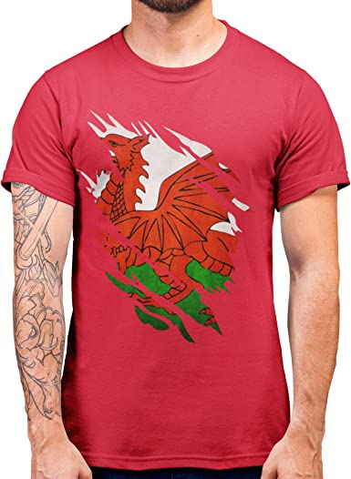 Wales Cymru World Cup Rugby T-Shirts 6 Nation Tops Red
